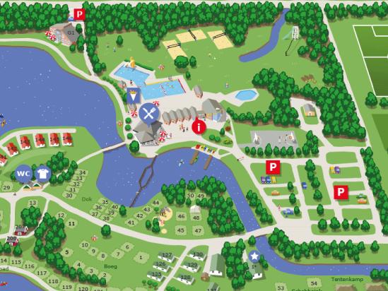 Hunzepark plattegrond