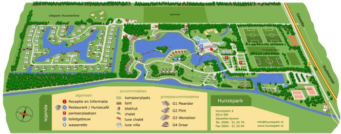 plattegrond Hunzepark