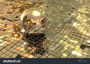 stock-photo-disco-ball-floating-in-disco-sea-d-render-shiny-mirrors-in-wavy-pattern-422164897